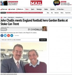John Challis meets Gordon Banks Birmingham Mail