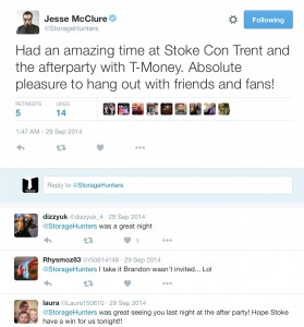 Jesse McClure enjoys Stoke CON Trent