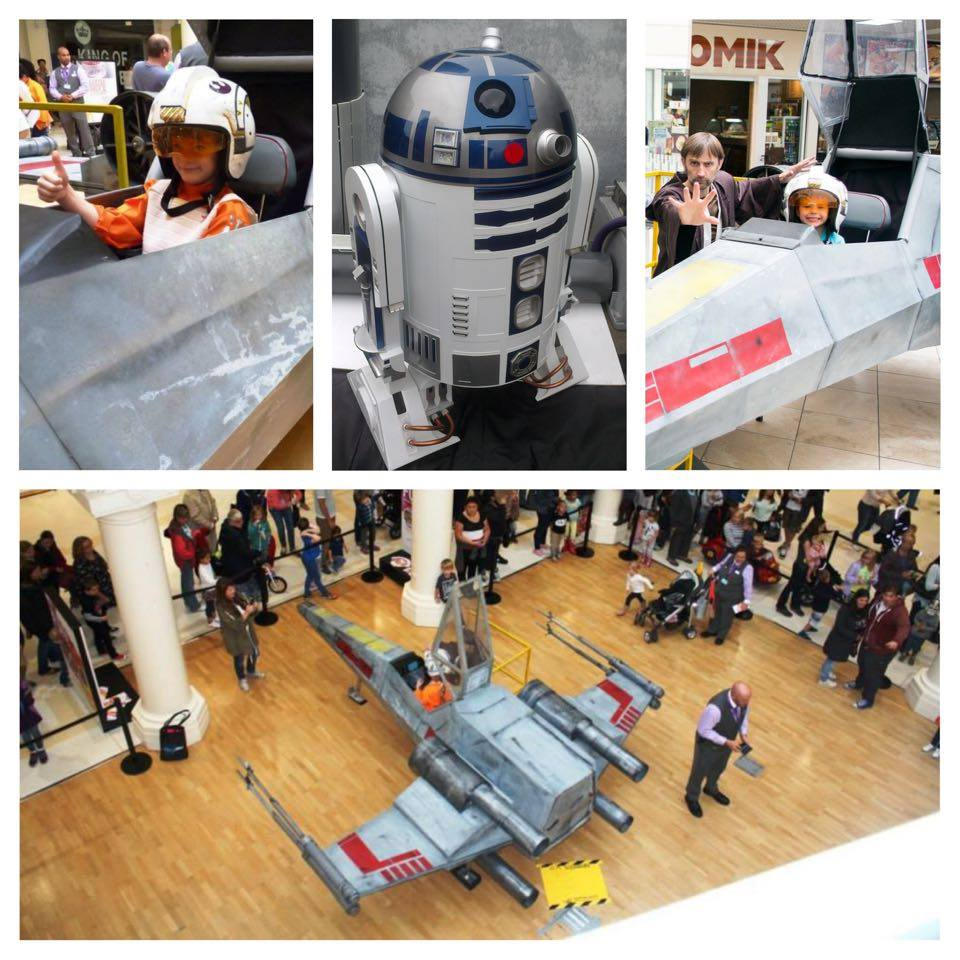 Low Flying X Wing due to land at Stoke CON Trent #4 with R2-D2
