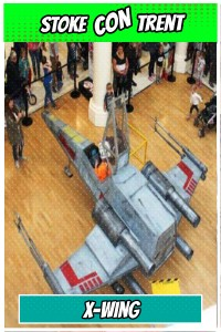 Sit in an X Wing at Stoke CON Trent #4 on April 17 2015