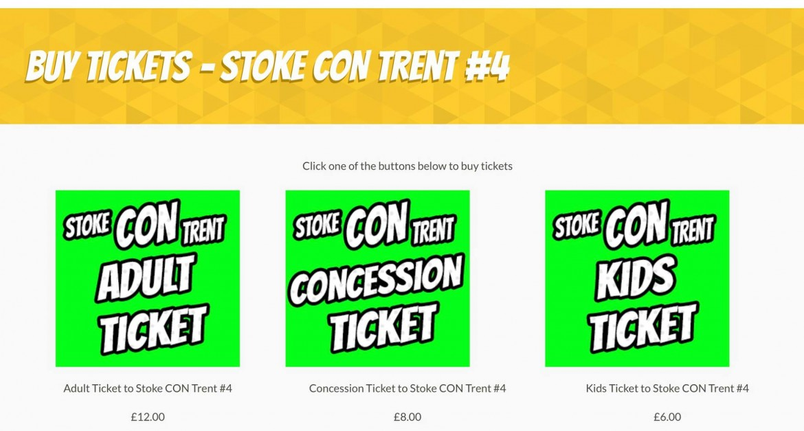 Buy Tickets for Stoke CON Trent #4