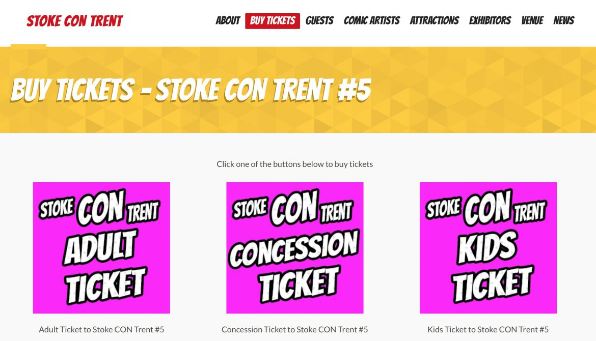 Get Your Tickets for Stoke CON Trent #5 HERE