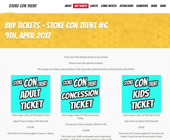 Buy Tickets For Stoke CON Trent #6 HERE #SCT6