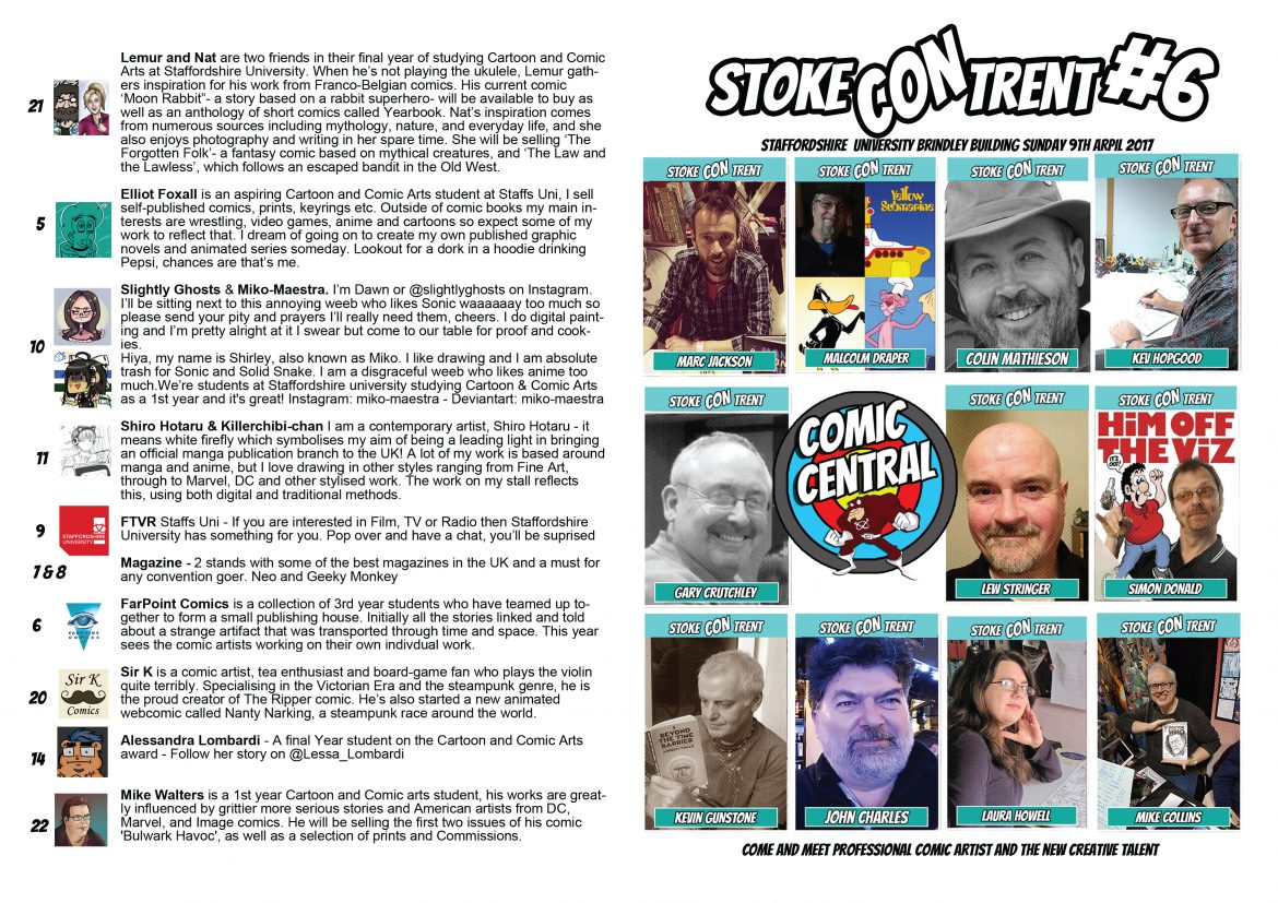 New Comic Central Programme4 Stoke CON Trent #6