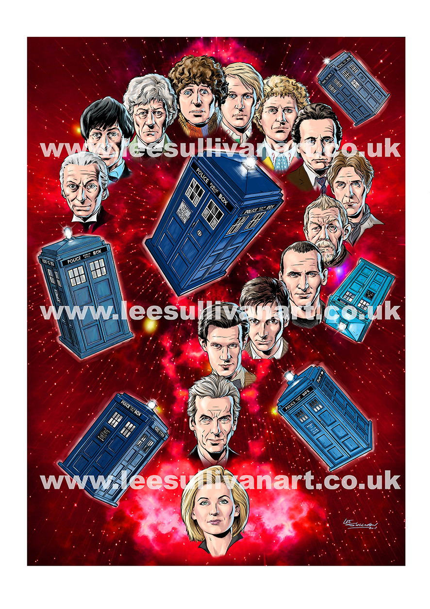 DOCTOR WHO STOKE CON TRENT #7 Lee Sullivan Question Mark 2017 watermark