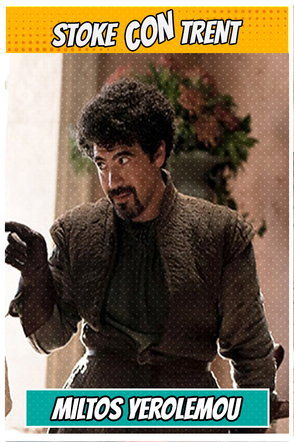 Meet Miltos Yerolemou SCT #8 - Syrio Forel in Game of Thrones Joins Stoke CON Trent #8 Guest